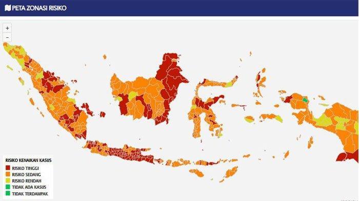 Update Covid-19 di Sumsel : 9 Daerah Zona Merah, Ini Sebaran Kasus di 17 Kabupaten/Kota