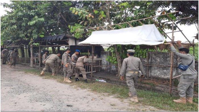 Satpol PP OI Minta PKL di Jalintim Indralaya Tertib Dirikan Lapak Dagangan, Tenggat  20 Oktober