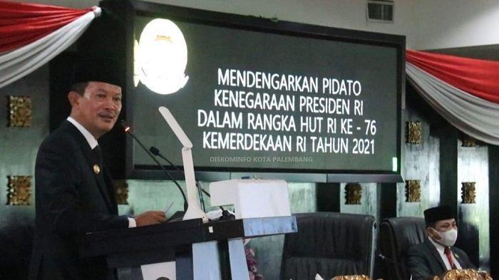 Upacara HUT RI ke 76 Tahun di Kota PalembangHanya Dihadiri 12 Orang Pimpinan Forkompinda