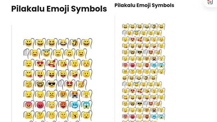 pilakalu emoji simbol (techbard)
