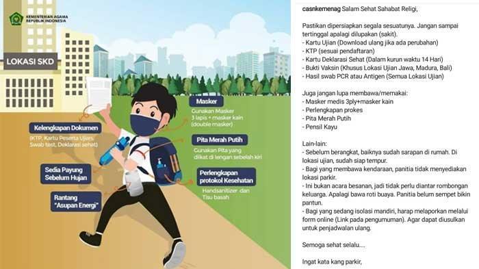 Info Terbaru Tes SKD Kemenag CPNS 2021 Salah Satunya Pakai Pita Merah Putih, Lihat Updatenya di Sini