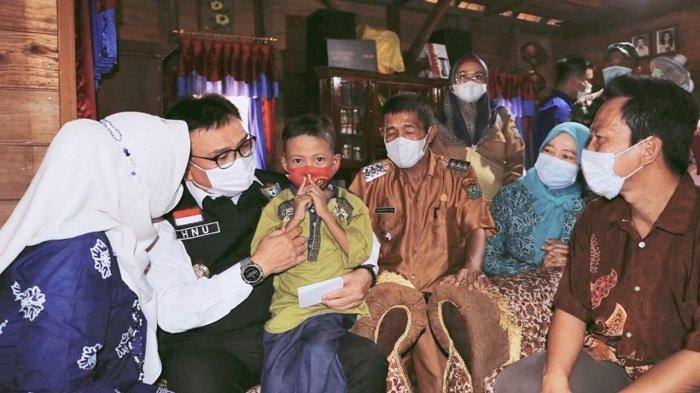 Penderita Thalasemia di Muara Enim Terharu Dikunjungi Pj Bupati Nasrun Umar