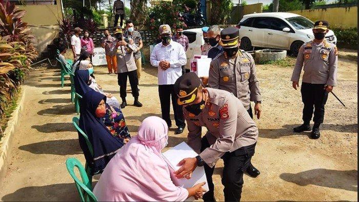 Kunjungi Mapolres Ogan Ilir, PJU Polda Sumsel Laksanakan Serangkaian Kegiatan Terkait Covid-19