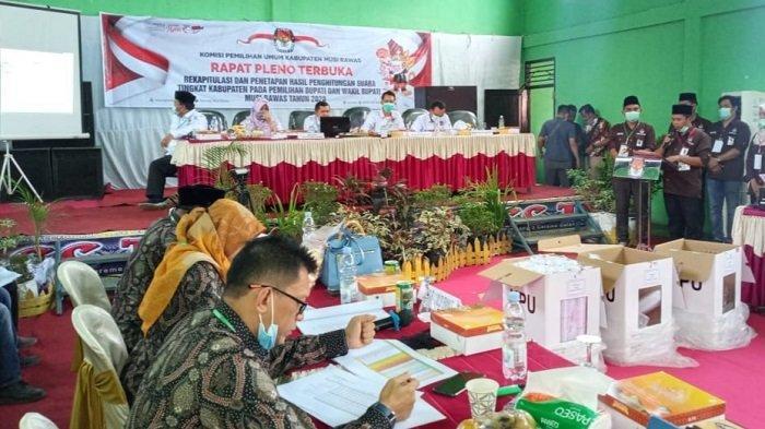 Pilkada Musirawas 2020, Hasil Rekapitulasi Tingkat Kabupaten, Paslon Ramah Berarti Ungguli Petahana