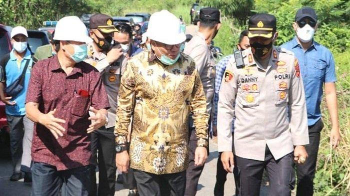 PLH Bupati Muaraenim Tinjau Lokasi Pembangunan RS Bhayangkara II