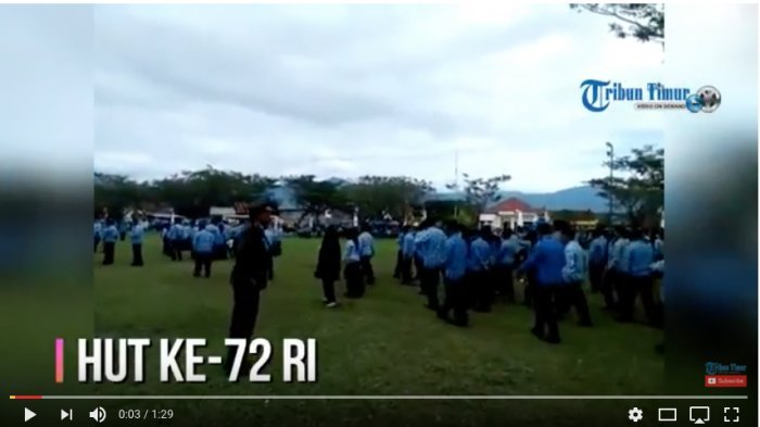 Detik-detik Perwira TNI Murka Pergoki Ratusan PNS Nyantai dan Berteduh saat Upacara HUT RI