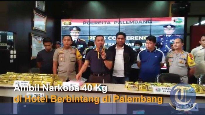 Polresta Palembang Terus Kejar Bandar Narkoba Puluhan Kilo, Kurir Diserahkan ke Polda Metro