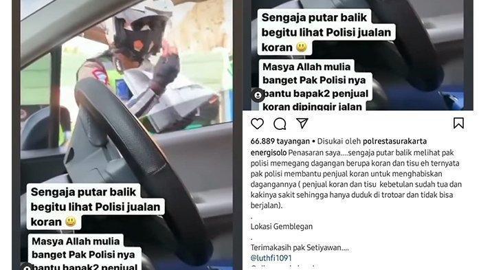 Viral Polisi Jual Koran dan Tisu di Jalanan, Dagangan Habis 15 Menit, Ternyata Ada Kisah di Baliknya
