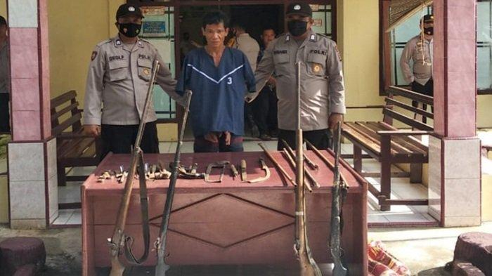 BREAKING NEWS- Bekuk Pencuri Sawit, Polres Musirawas Bongkar Pembuatan Senpira di Muara Lakitan