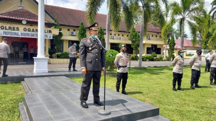Polres Ogan Ilir Gelar Apel Penandatanganan Fakta Integritas Netralitas Polri di Pilkada Serentak