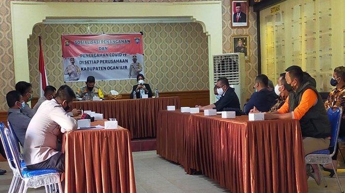 Kapolres Ogan Ilir Sosialisasi Penanggulangan Covid-19 kepada 32 Perusahaan