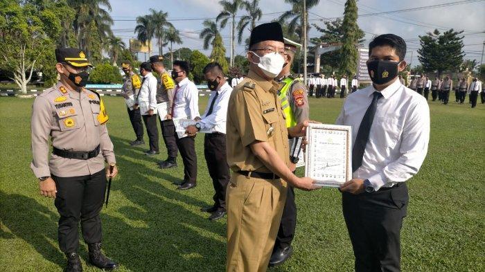 40 Personel Polres Ogan Ilir Diberi Penghargaan Sukses Amankan Pilkada