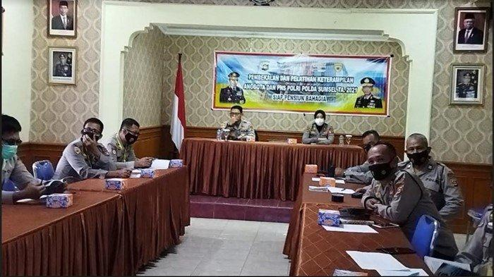 11 Personel Polres OI Ikuti Pembekalan dan Pelatihan Keterampilan Anggota dan PNS Polri Polda Sumsel