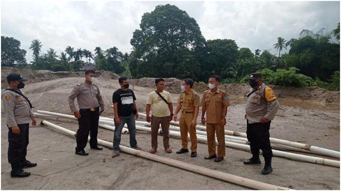 Polres OI Gusur Aktivitas Tambang Pasir Ilegal di Rantau Alai, Sebelumnya Pernah Ditertibkan