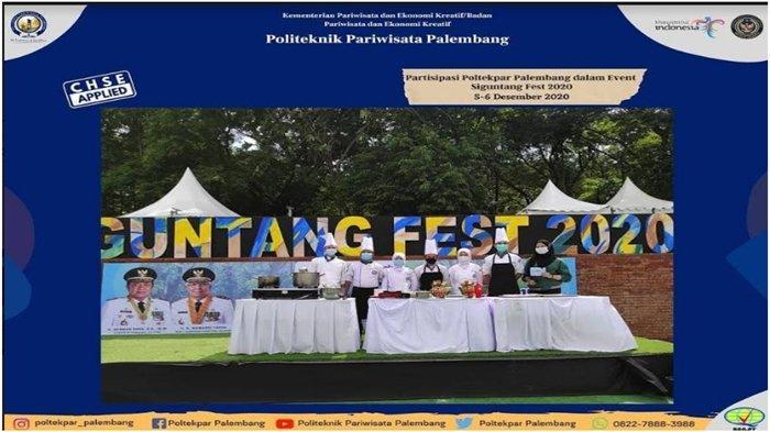 Poltekpar Palembang Partisipasi di Siguntang Fest 2020, Cooking Demo dan Lomba Barista