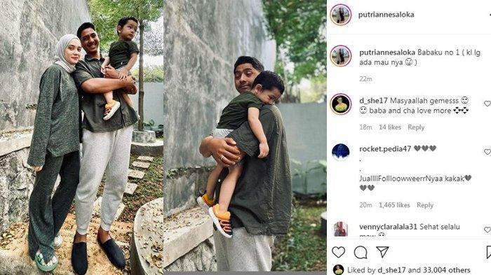 Postingan Putri Anne bareng Arya Saloka dan anak mereka, Ibrahim Jalal Adi Din Rumi