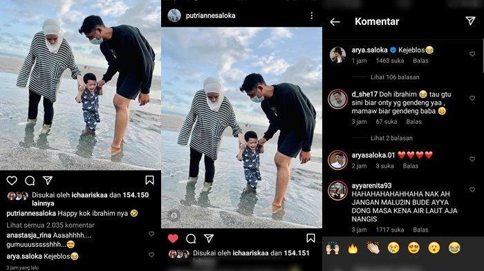 Potret liburan Arya Saloka bareng Putri Anne dan anak sewaktu di Bali juga komentar Ayya Renita soroti ekspresi Ibrahim