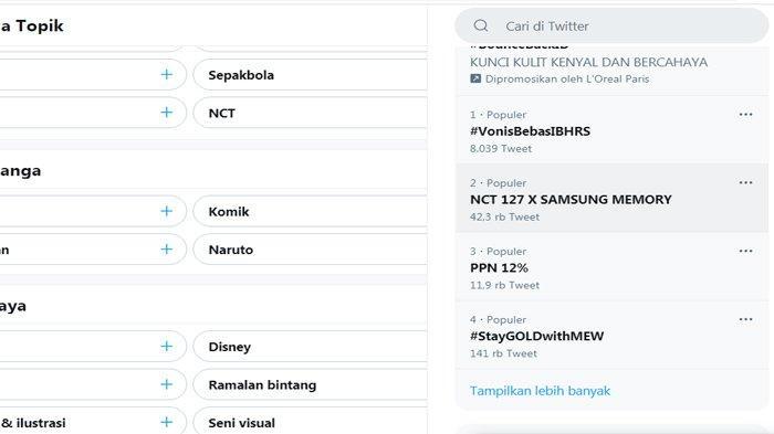 PPN 12 Persen Masuk Trending Topik Twitter