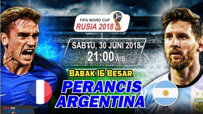 Nonton Live Streaming Piala Dunia Prancis Vs Argentina di HP via Indosat, XL dan Telkomsel