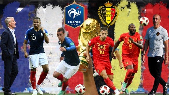 Live Streaming Piala Dunia Perancis Vs Belgia di HP via Indosat, XL dan Telkomsel