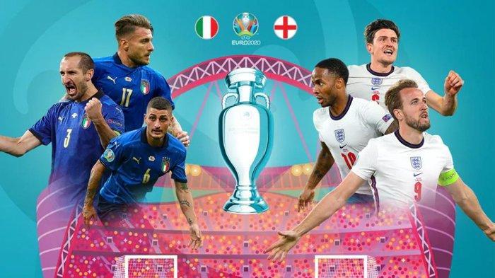 Prediksi Final Euro 2020 : Ada Kuat Liga Italia vs Liga Inggris, Hanya Ada 7 Pemain di Luar Liga