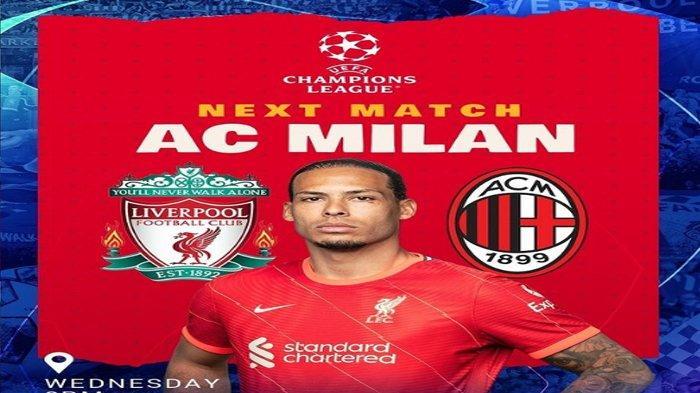 Prediksi Susunan Pemain Skuad Liverpool vs AC Milan di Liga Champions, Adu Tajam Penyerang