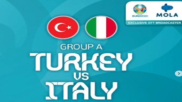 Jadwal, Prediksi Pertandingan dan Susunan Pemain Turki vs Italia, Laga Pembuka Piala Eropa 2020