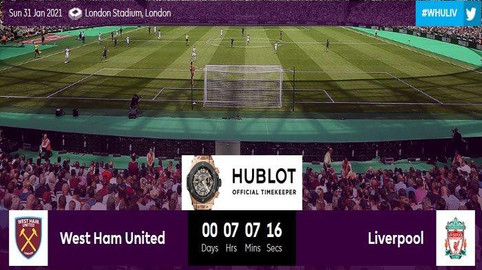 Prediksi Starting Eleven Pemain West Ham Vs Liverpool, The Reds Unggul Head to Head