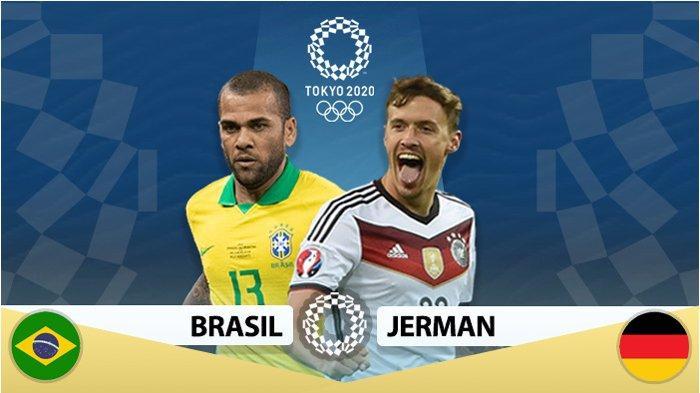 Prediksi Starting Line Up Brasil vs Jerman di Olimpiade Tokyo 2020, Live TVRI Malam ini