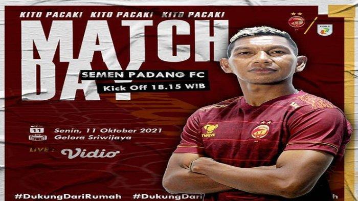 Prediksi Line Up Sriwijaya FC vs Semen Padang FC, Laskar Wong Kito Andalkan Pemain Laga Sebelumnya