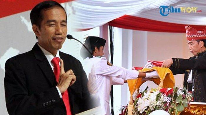 Mengejutkan! Jokowi Bisikan Hal Menggelitik kepada Pembawa Baki Bendera saat Upacara HUT RI