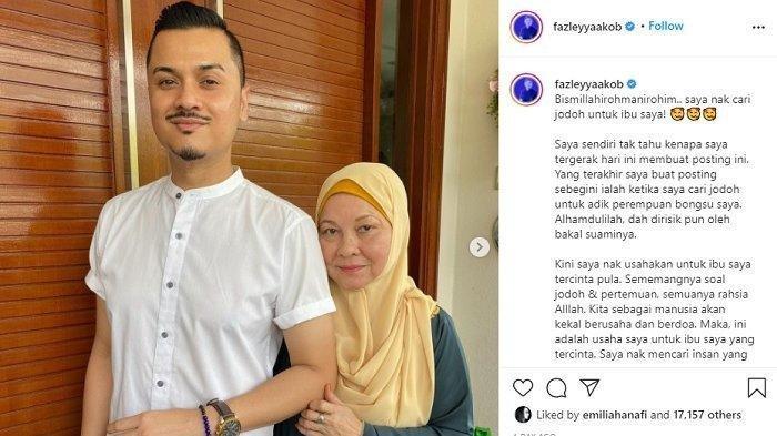 Penyanyi Terkenal Malaysia Dato Fazley Viral Carikan Jodoh Buat Ibunya, Syarat : Bukan Pria Beristri