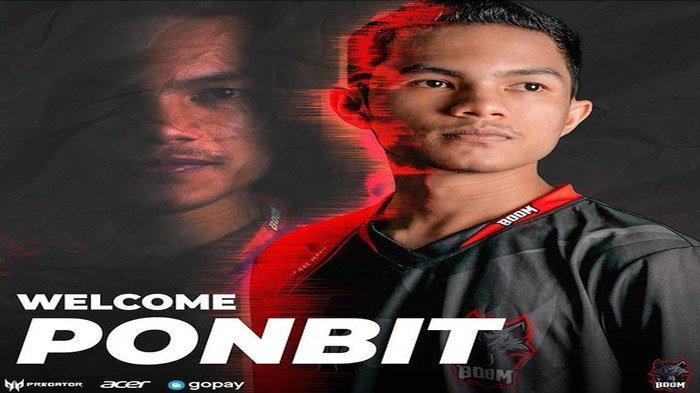 Profil dan Biodata Ponbit, Roster Anyar Boom Esports, Ternyata Pernah Tekuni Balap Motor