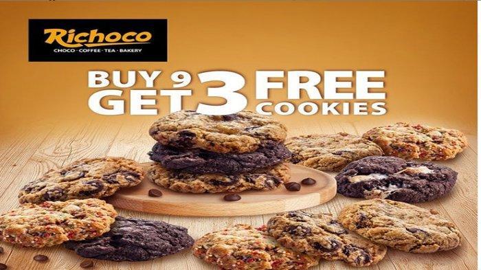 Promo dan Diskon Richeese dan Richoco Terbaru, Spesial Weekend Buy 9 Cookies Get 3 Free Cookies