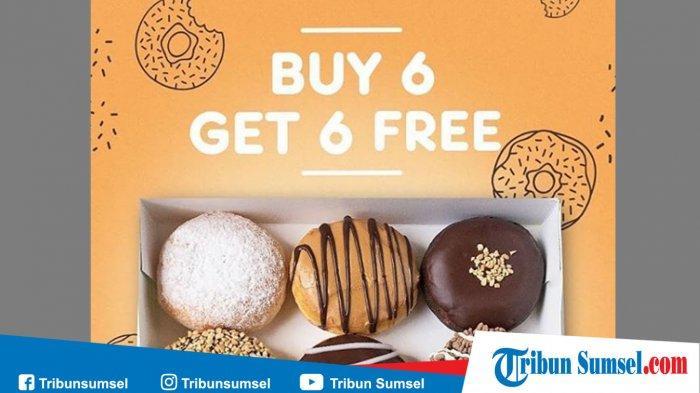 Promo Dunkin Donuts Beli 6 Gratis 6 Januari 2020, Berlaku Hanya 3 Hari dengan Kupon LINE