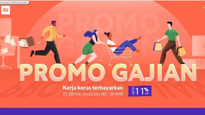 Promo Gajian HP Xiaomi Diskon 11% Mulai 25 - 28 Februari 2020, Redmi Note 8, Redmi 8, Redmi Note 7