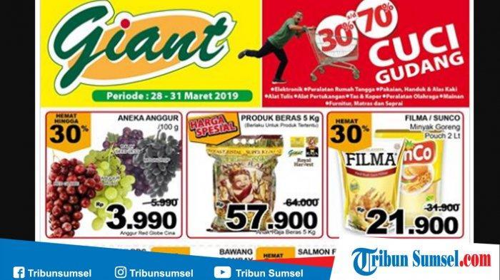 Promo Giant Akhir Pekan 28 31 Maret 2019 Minyak Goreng Murah 2 Liter Filma Sunco Rp 21 900 Tribun Sumsel