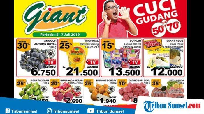 Katalog Promo Jsm Giant Hari Ini 5 7 Juli 2019 Minyak Goreng Tropical 2l Rp 21 500 Tribun Sumsel
