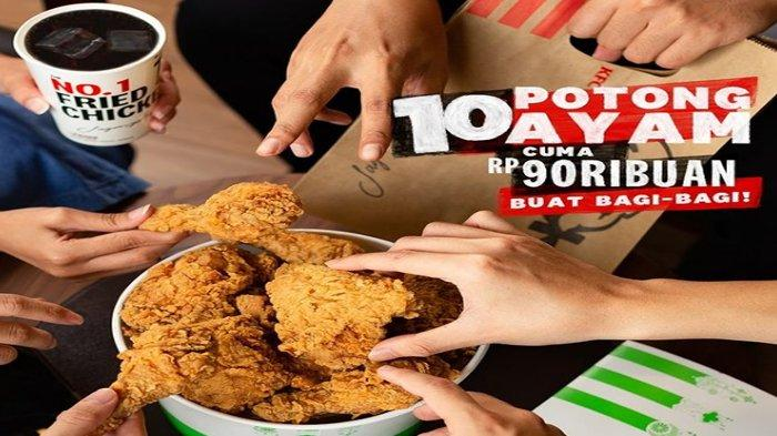 Promo The Best Thursday (TBT) 10 Potong Ayam Cuma Rp 90.000 Berlaku Hanya Hari Ini