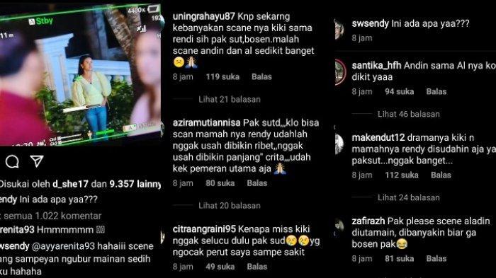 Pemirsa memprotes cerita Ikadan Cinda di Instagram Sudatara