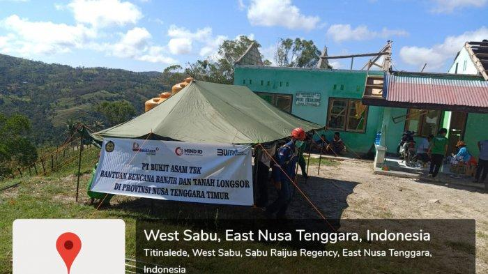 PTBA Bantu Korban Siklon Tropis Seroja NTT