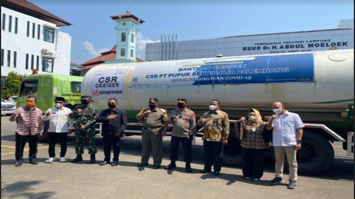 Direktur Utama PT Pusri Serahkan Bantuan Oksigen untuk Rumah Sakit di Lampung