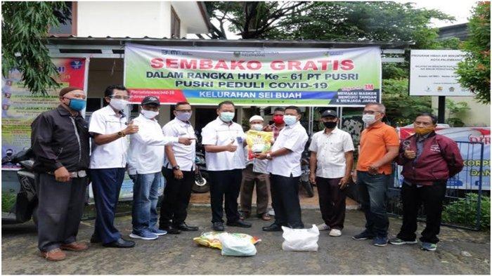 Pusri Peduli Bagikan 24 Ribu Sembako Gratis untuk Warga 8 Kelurahan di Palembang