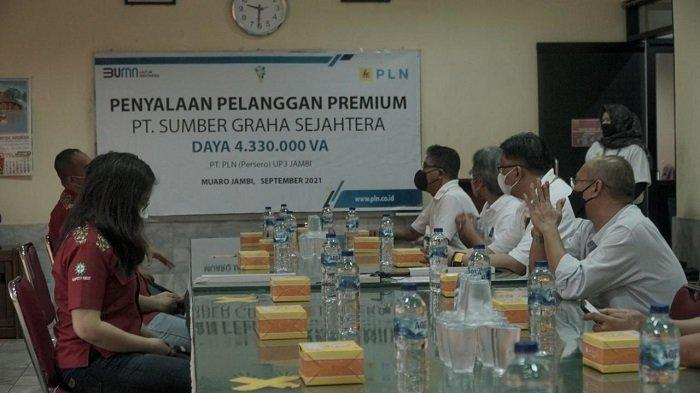 PT. SGS, Pelanggan Daya 4,3 MVA Menjadi Pelanggan Premium ke 123 di UP3 Jambi