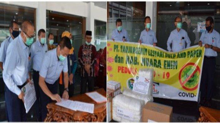 PT TeL PP Serahkan Donasi Sosial Penanggulangan wabah covid-19 kepada Pemkab Muara Enim