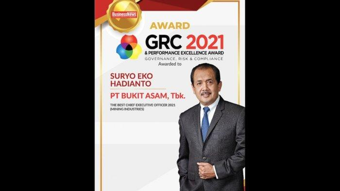 PT Bukit Asam Raih GRC & Performance Exellence Award 2021 dari Majalah BusinessNews Indonesia