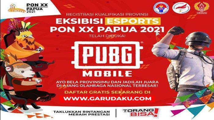Daftar Nomor Pertandingan Esport PON Papua, PUBG, Free Fire, ML, PES, Ini Jadwal dan Syarat Daftar