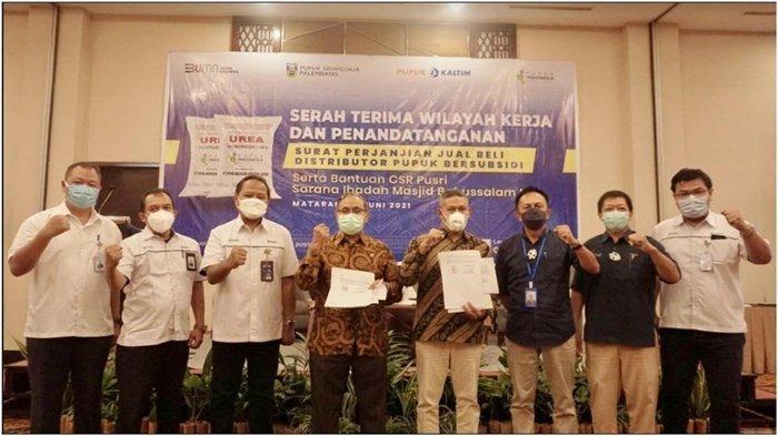 Pusri Laksanakan Penandatanganan SPJB dengan Distributor Pupuk di Lombok