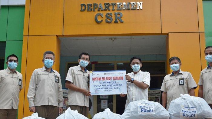 Pusri Serahkan 1.800 Paket Kesehatan Bagi Warga Disekitar Lingkungan Perusahaan
