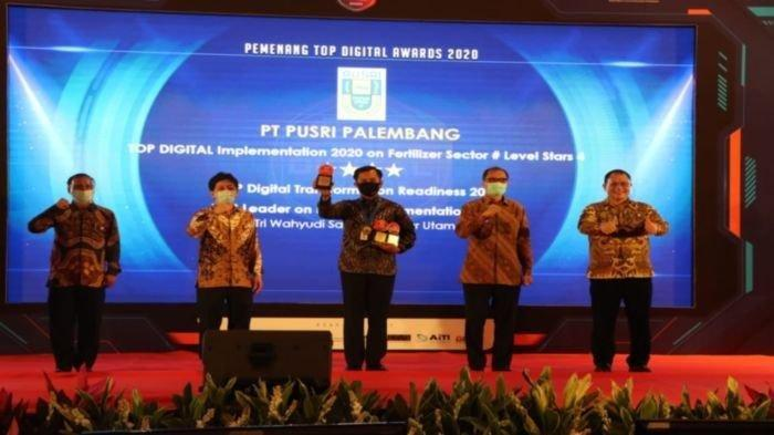 PT Pupuk Sriwidjaja Palembang (Pusri) Borong Top Digital Awards 2020, 3 Penghargaan Sekaligus